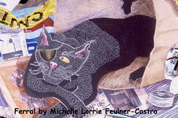 Detail of Ferral by Michelle Lorrie Feulner-Castro copyright 2003